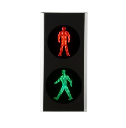 Green Light signal 200 mm 2-lys fodgænger