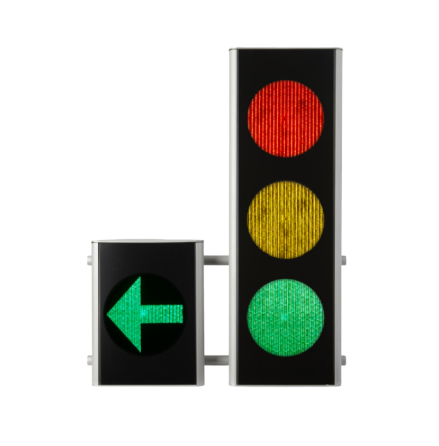 Green Light signal 200 mm 3-lys m. V-pil