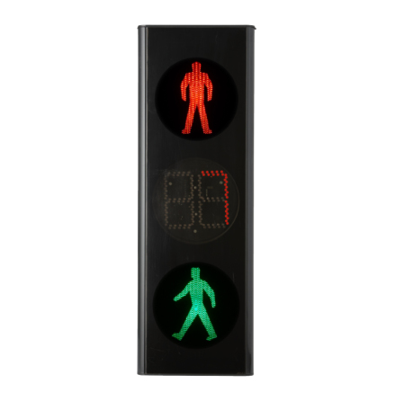 Green Light signal 200 mm 3.lys Count Down