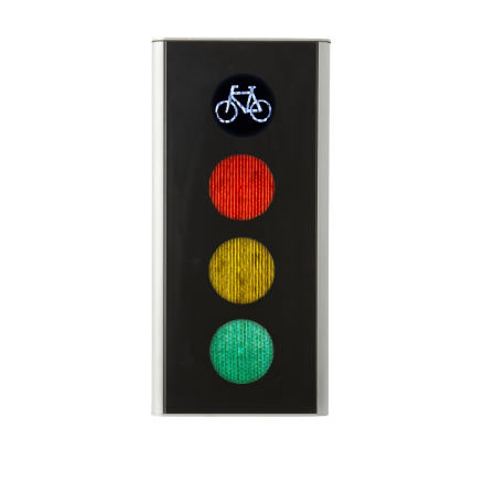 Green Light signal 100 mm 4-lys cyklist