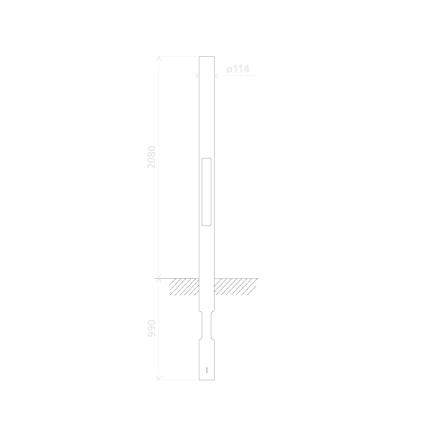 Mast lav 114 mm