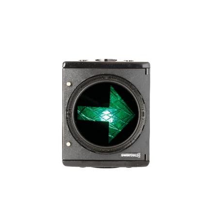 12V plastsignal 1-lys 200 mm H-pil opadvendt DSI