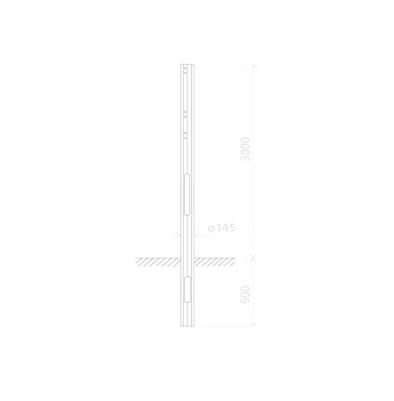 Mast lav Danintra 3.9 m