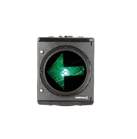 12V plastsignal 1-lys 200 mm V-pil opadvendt DSI